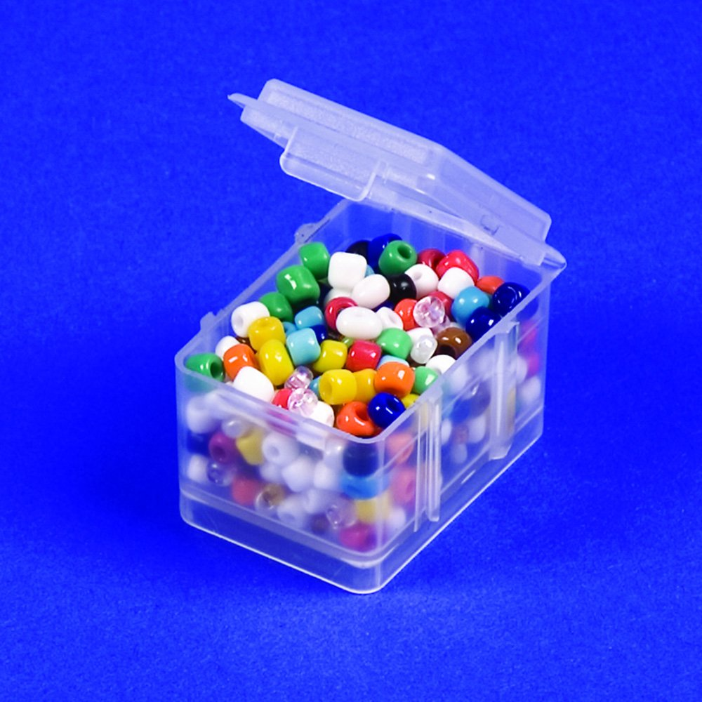4 M and 2 L. Connect-A-Box 14 pc Assortment from Cottage Mills findings and parts Small item storage system that connects and stacks Perfect for little things like beads Includes 8 S