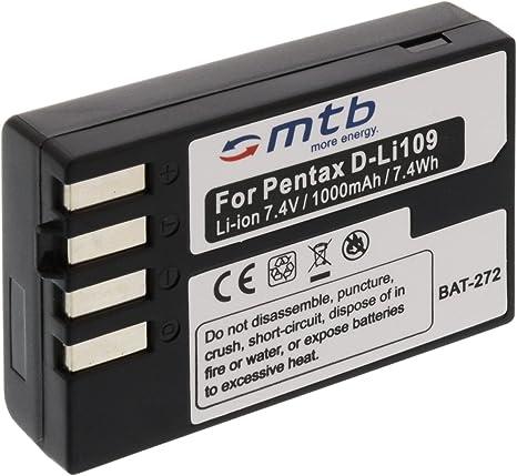 Batería D-Li109 para Pentax K-r, Kr, K30, K-30, K-50, K-500 ...
