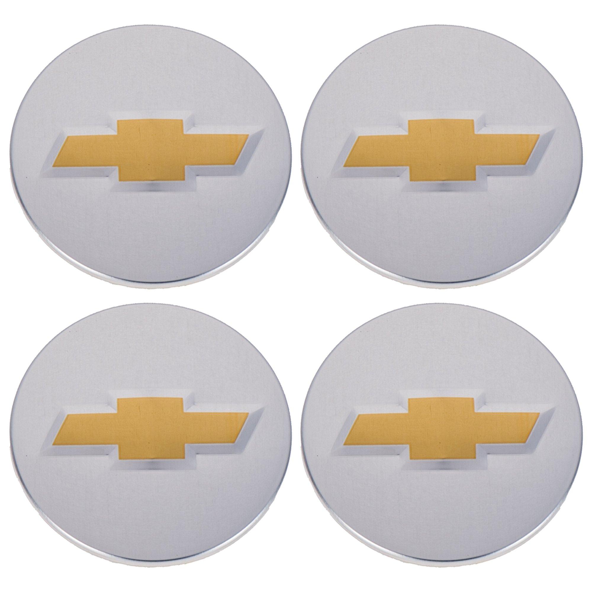 OEM NEW Wheel Hub Center Cap Set of 4 Silver w/ Bowtie 06-15 Chevrolet 9597551