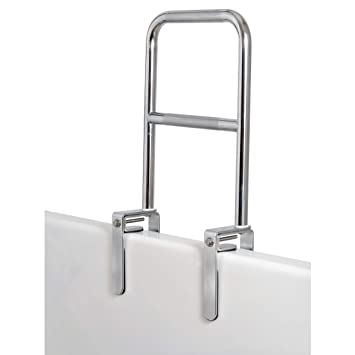 Amazon Com Carex Dual Level Bathtub Rail With Chrome Finish