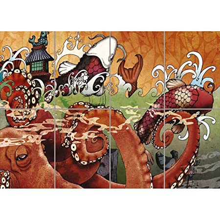 JAPANESE KOI CARP TATTOO GIANT WALL AFICHE CARTEL IMPRIMIR ...