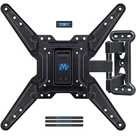 1252c740b93 Mounting Dream Full Motion TV Wall Mounts Bracket with Perfect Center  Design for 26-55