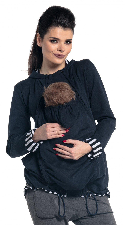 Zeta Ville - Women's Maternity Hooded Sweatshirt Babywearing Carrier - 495c carrier_top_495