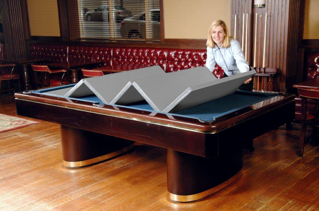 Hood Leather 470 38 x 76 In - Convertible Pool Table Cover
