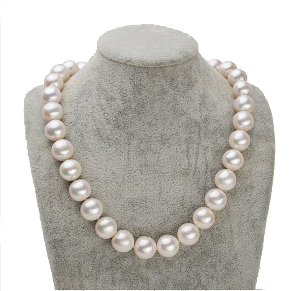 Rakumi Fine AAAA 10-11mm Round White Freshwater Cultured Pearl Pearl Necklace 18''