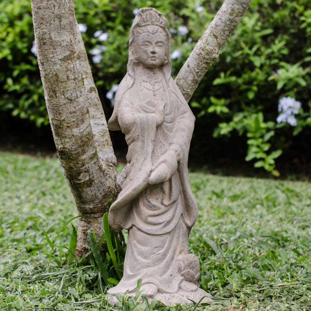 Repose Home & Garden 2053 Spirit 20'' Stonewashed Quan Yin by Repose Home & Garden