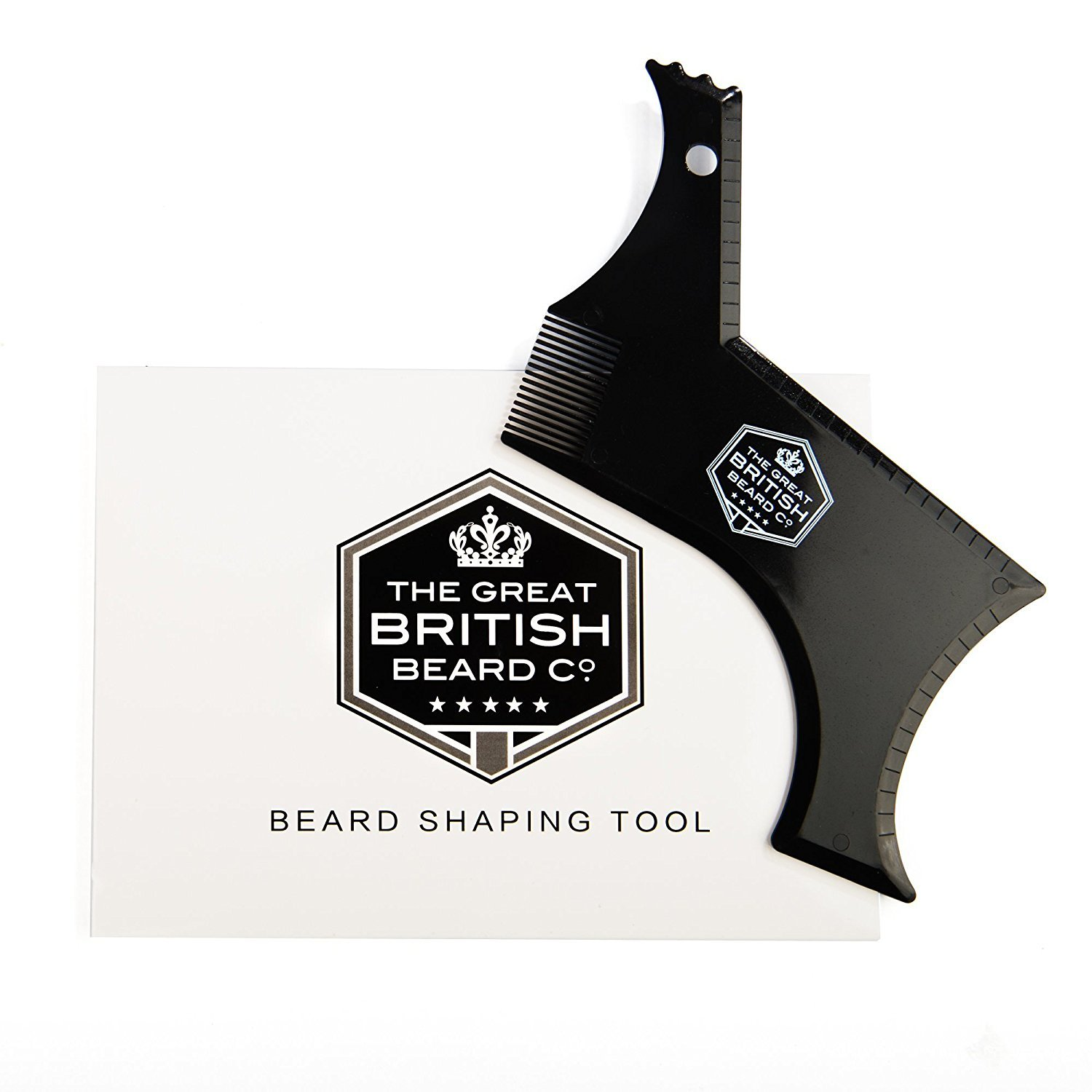 British Beard Shaping Tool For Perfect Lines and Symmetry. Beard Styling and Shaping Template ECONNECT Limited
