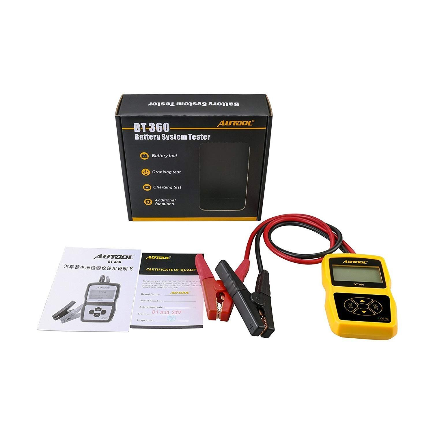 AUTOOL Auto Battery System Tester CCA 100-2400 Bad Cell Test for Regular Flooded, Auto Cranking and Charging System Diagnostic Analyzer for Domestic Cars, Boats by AUTOOL (Image #7)