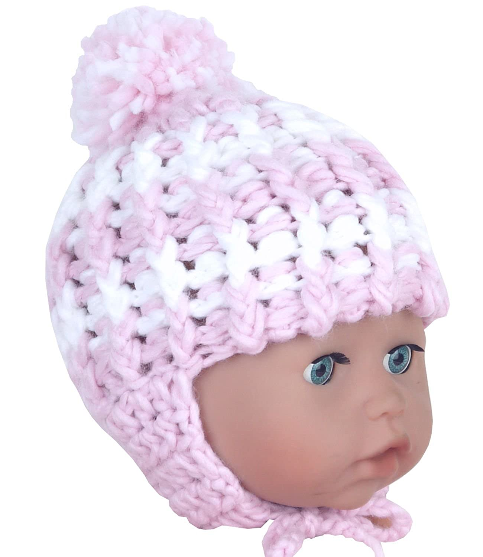BabyPrem Baby Hut Gestrickt Mü tze Winter Kleidung Neugeborenes Jungen Mä dchen PEC715