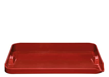 """Emile Henry Made In France Flame BBQ Plancha, 15.4 x 12.2"""", Burgundy"""