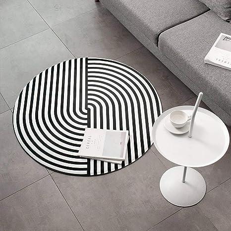 Amazon.com: Round Area Rugs,Thick Non-Slip,Easy Care Nordic ...