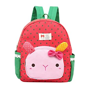 STRIR Mochila Infantil/PequeñA Bebes Guarderia Bolsa Lindo Conejo Animales Bambino mochila para pequeño niñas (Sandía-roja): Amazon.es: Hogar