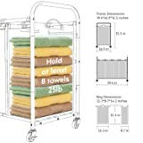 ROMOON 4 Bag Laundry Sorter Cart, Laundry Hamper