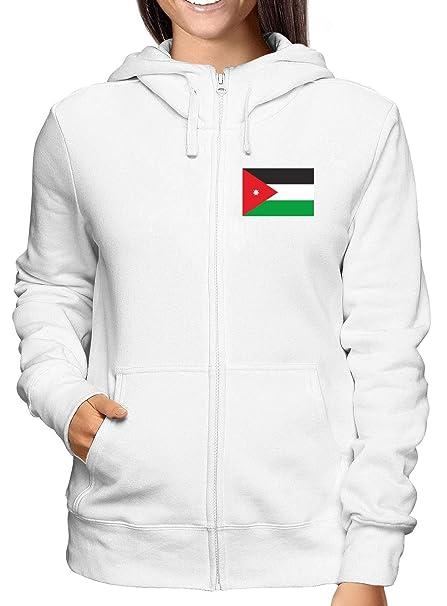 Sudadera con Capucha Zip para Las Mujeras Blanco TM0203 Jordan Flag: Amazon.es: Ropa y accesorios