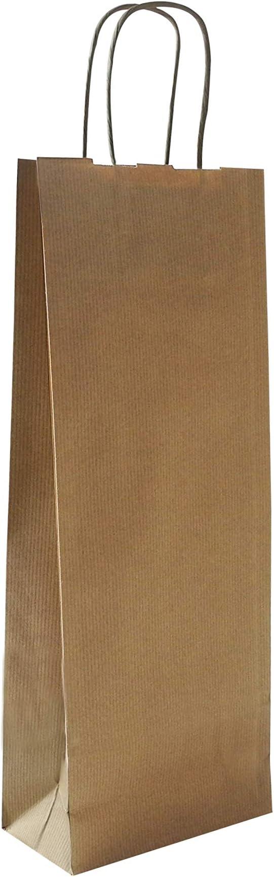 cf 10 pz maniglia ritorta Portabottiglie in Sealing color Avana Carte Dozio f.to cm 15+8,5x39