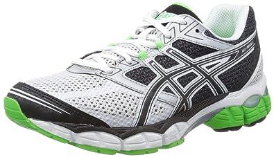 371e60b8345 ASICS Mens Gel Pulse 5 M White Black Neon Green Running Shoes T3D1N 0190