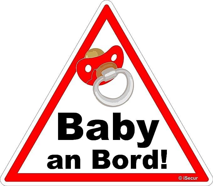 Easydruck24de 1 Auto Aufkleber Baby An Bord I Kfz 223 I 16 X 14 Cm Groß I Mädchen Sticker Mit Schnuller I Hinweis Aufkleber Achtung Vorsicht Dreieckig Wetterfest Auto
