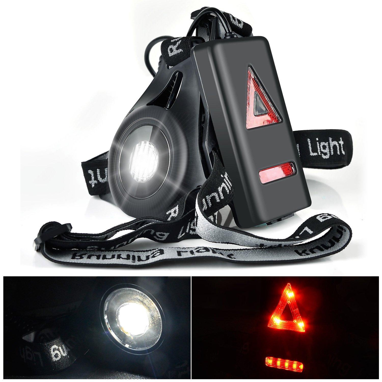 Wiederaufladbare USB Running Light, Myguru LED Brust Lampe 3 Modi Beleuchtung für Sport, Joggen, wiederaufladbar, zu Fuß, Sportlampe zum Laufen im Winter, Joggen bei Nacht zu Fuß Yestech