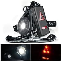 Eclairage Course, Eclairage Sport Myguru Lampe Running LED Rechargeable pour Marche, Lampe Sport de Poitrine, Running Eclairage Lampe Frontale de 3 Modes pour Courir Soir en Hiver, Jogging Nuit