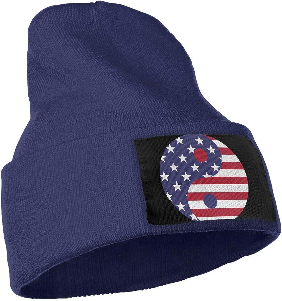 American Flag Yin Yang Unisex Fashion Knitted Hat Luxury Hip-Hop Cap