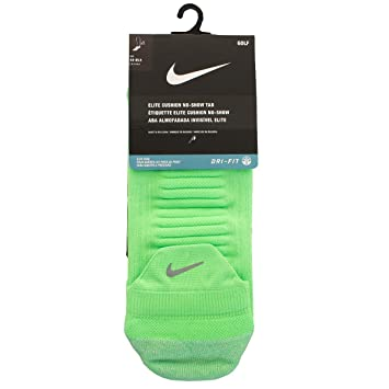 Nike Golf Elite Cushion NST Calcetines, Unisex Adulto, Verde/Blanco (Voltage Green