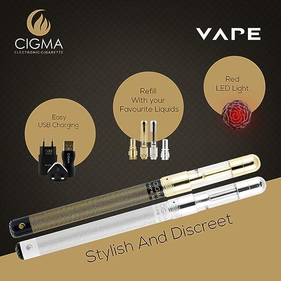 Cigma Vape Delgado Kit | La más pequeño recargable E Cigarette Starter Kit | E Shisha | 2 x batería recargable | 10ml de líquido de tabaco | 2 x recargable ...