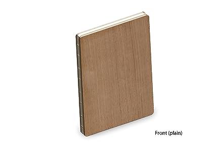 Couverture En Bois Veritable De Chene Luxe A5 Bloc Notes