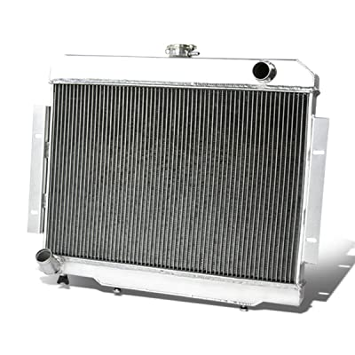 For Jeep CJ 3-Row Full Aluminum Racing Radiator (Manual Transmission Only): Automotive