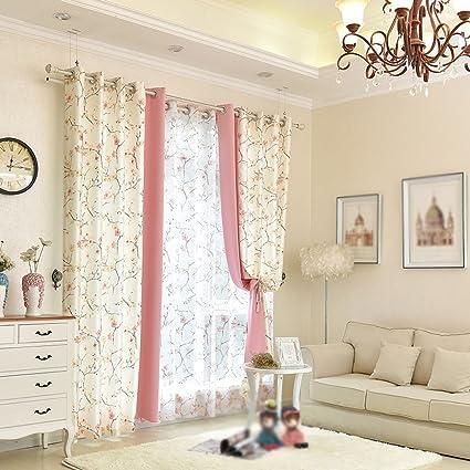 CHENGYI Plum Blossom Pattern Tende da pavimento in tonalità complete ...