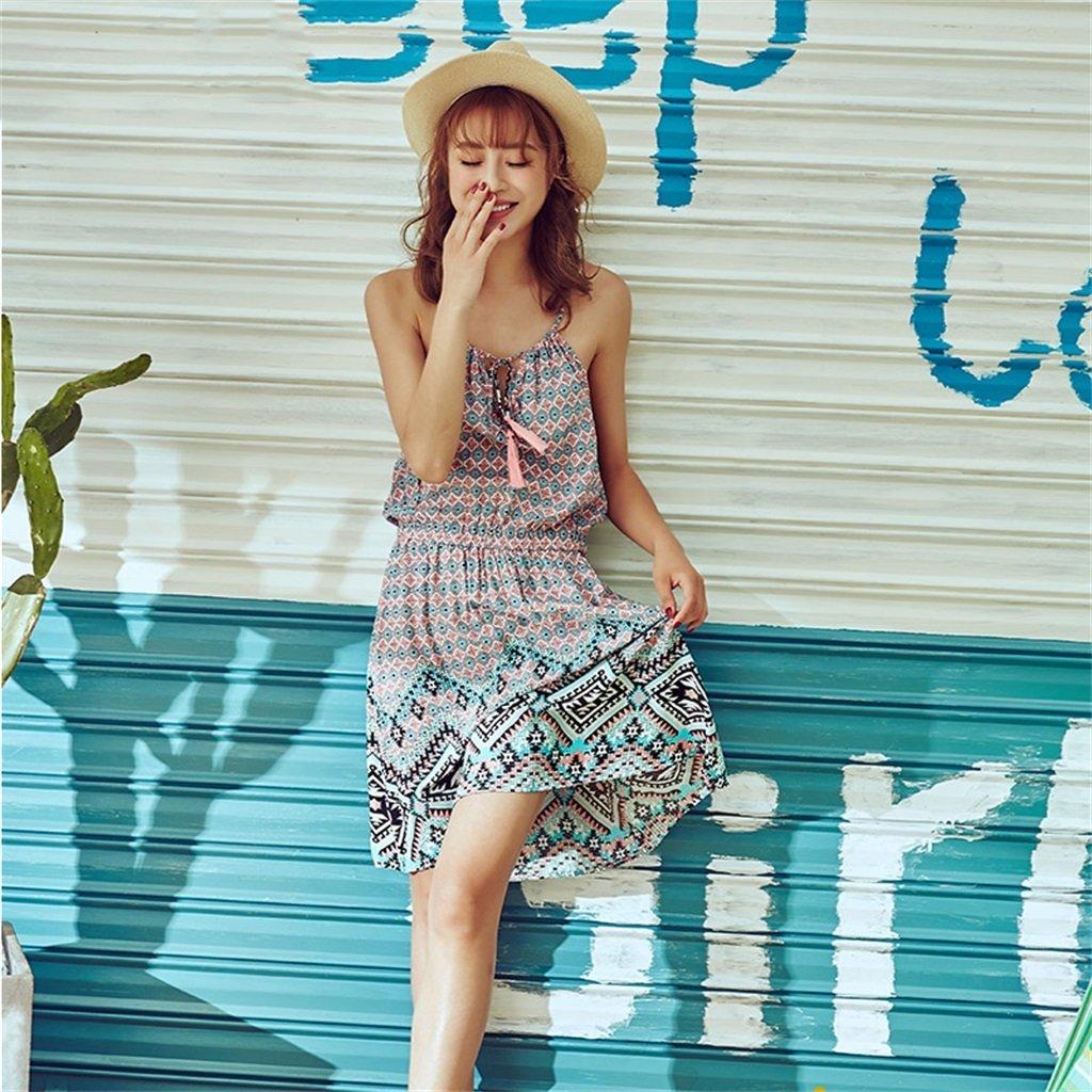 ALUK- Summer Sweet Sexy Sling Ladies Sleep Dress Moda cómodos pijamas caseros (Color : As shown , Tamaño : L) : Amazon.es: Hogar