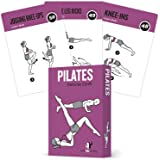 Pilates Exercise Cards, Set of 62 for Women and Men - for Home, Gym or Studio :: 50 Mat Exercises, 12 Stretches, 6 Total Work