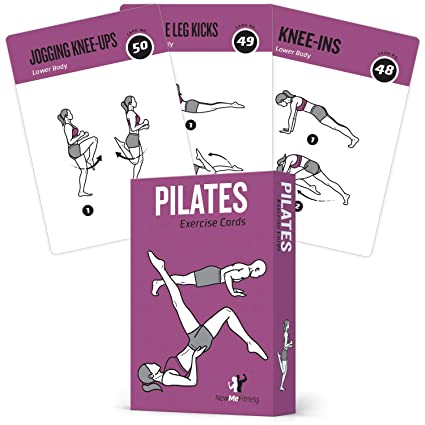 Pilates Exercise Cards, Set of 62 for Women and Men :: for Home, Gym or  Studio :: 50 Mat Exercises, 12 Stretches, 6 Total Workout Routines for