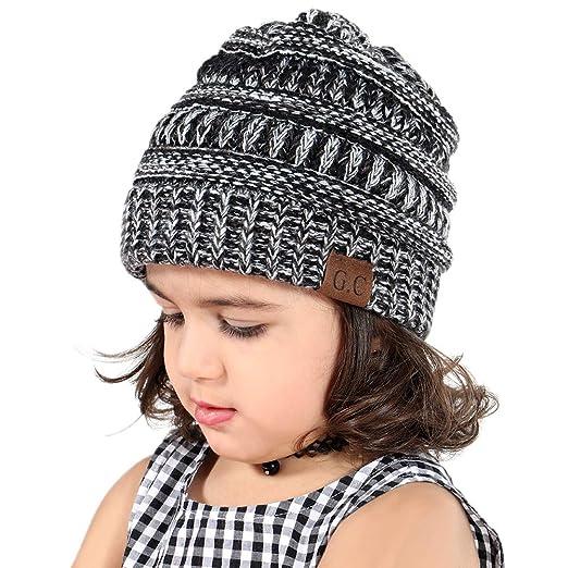 c9397b0654df VAMEI Mixtz Kids Baby Toddler Ribbed Knit Children s Winter Hat Beanie Cap  (3 Tone Mix