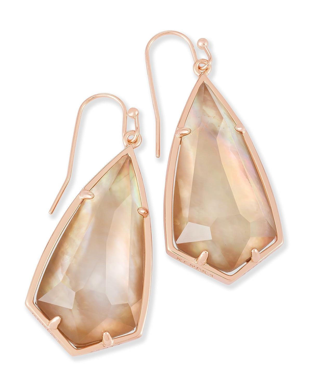 Kendra Scott Carla Drop Earrings in Rose Gold & Brown Pearl 4217714488