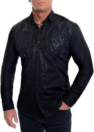 Dr Fashion Camisa De Vestir Elegante Para Hombre Con