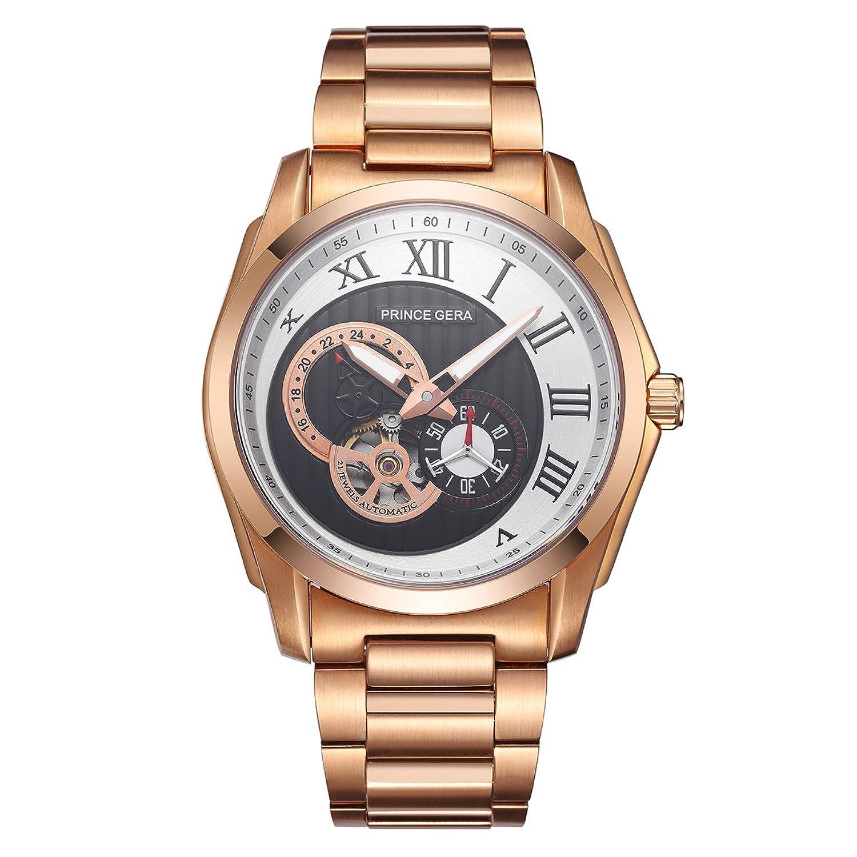 prince gera 18 k gold watch f r m nner luxus wasserdicht. Black Bedroom Furniture Sets. Home Design Ideas