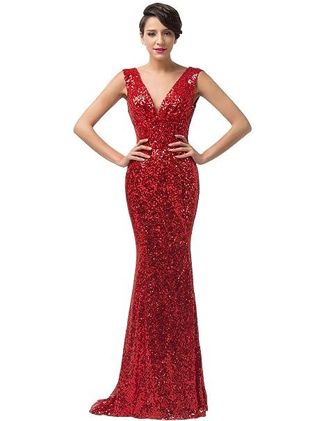Quissmoda vestido corto largo fiesta, noche, gala, talla 34, color rosso