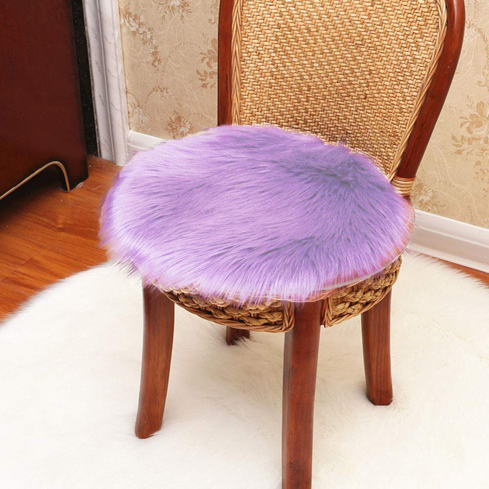 Weiliru Super Soft Shaggy Plush Chair Cover Area Rugs for Bedroom Sofa Fluffy Seat Pad