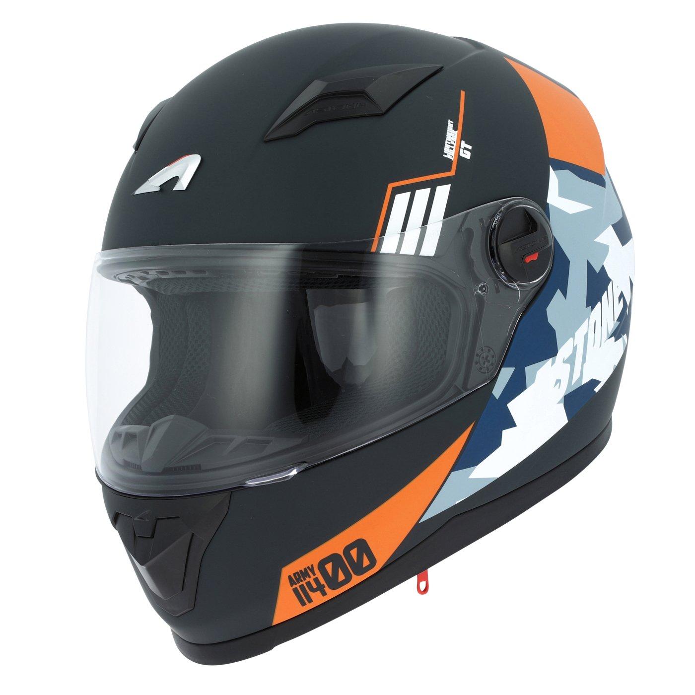 Amazon.es: Astone Helmets gt2g-army-bom casco Moto Integral GT, negro, talla M