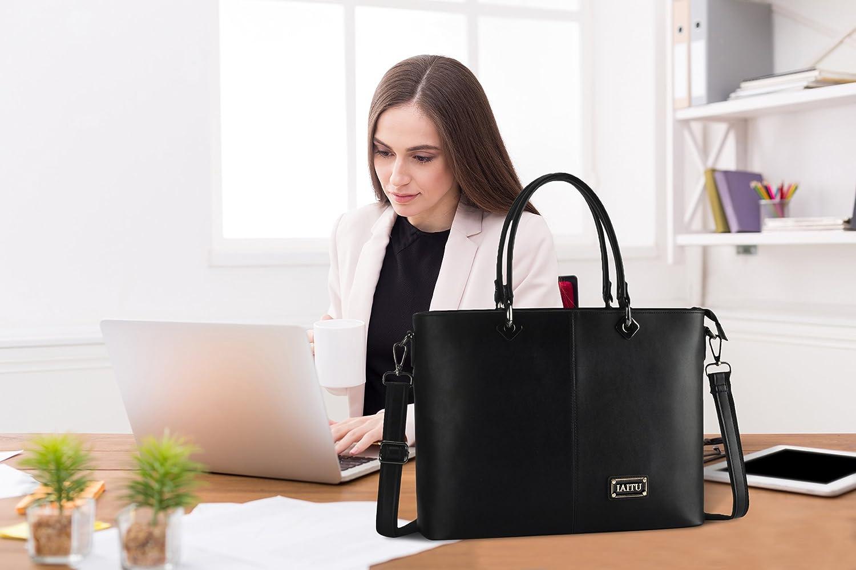 IAITU Laptop Tote Bag, Practical Work Bag with Adjustable Strap Laptop Bag for 15-15.6 Inch Tablet/MacBook/Ultra-Book (Coffee) AZG0019#coffee