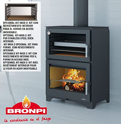 Wood Burning Stove With Murano Oven Amazoncouk Kitchen