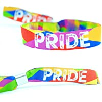 PRIDE Wristbands - Gay Pride Wristbands - Lesbian LBGT Rainbow Pride Accessories- stag do/hen party