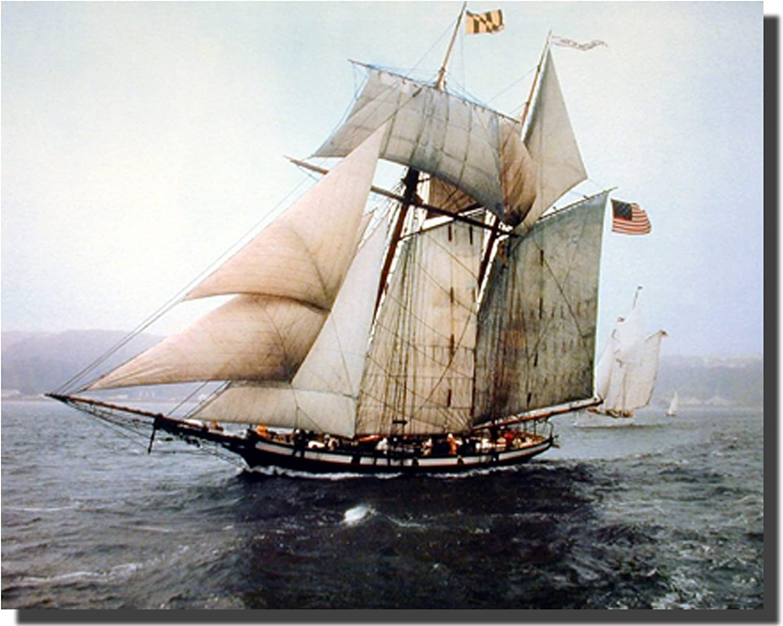 The Pride of Baltimore Sailing Vessel Sailboat Vintage Ship Wall Decor Art Print Poster (16x20)