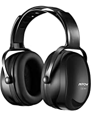 Mpow 044 Upgraded Ear Muffs, Adjustable Headband Design for Comfortable Fit, NRR 29dB Hearing Protection Noise Reduction Ear Muff for Shooting, Hunting, Welding, Mowing, Construction - Black