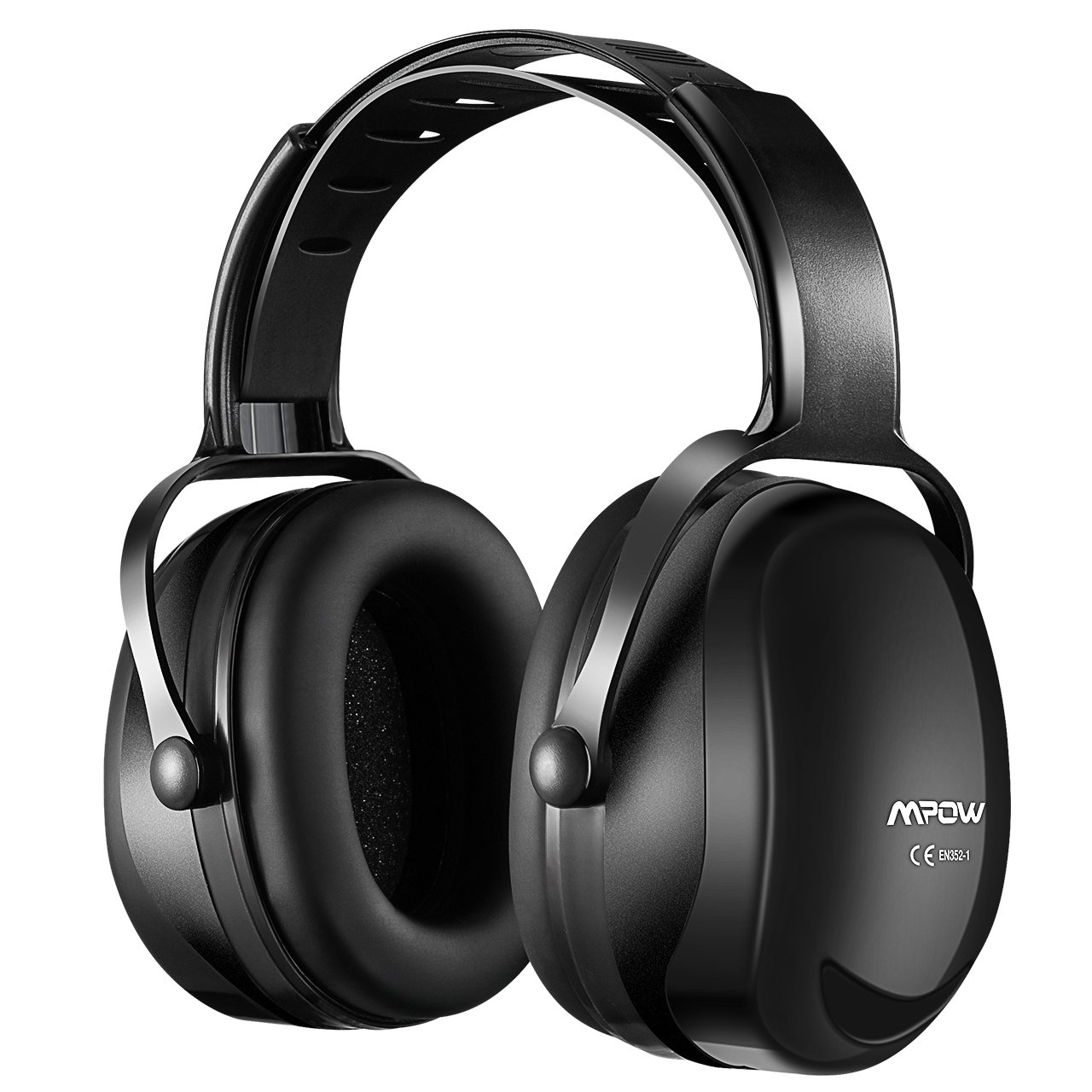 Mpow [Upgraded] Noise Reduction Safety Ear Muffs, SNR 36dB Shooting Hunting Muffs, Hearing Protection with a Carrying Bag, Ear Defenders Fits Adults To Kids with Twist Resistant Headband- Black by Mpow