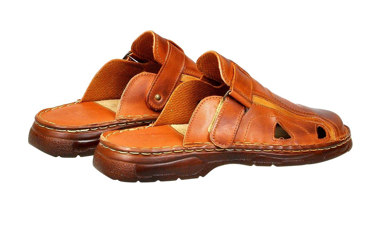 642e337b66e2 Lukpol Mens Orthopedic Sandals Buffalo Leather Footwear Model-809   Amazon.co.uk  Shoes   Bags