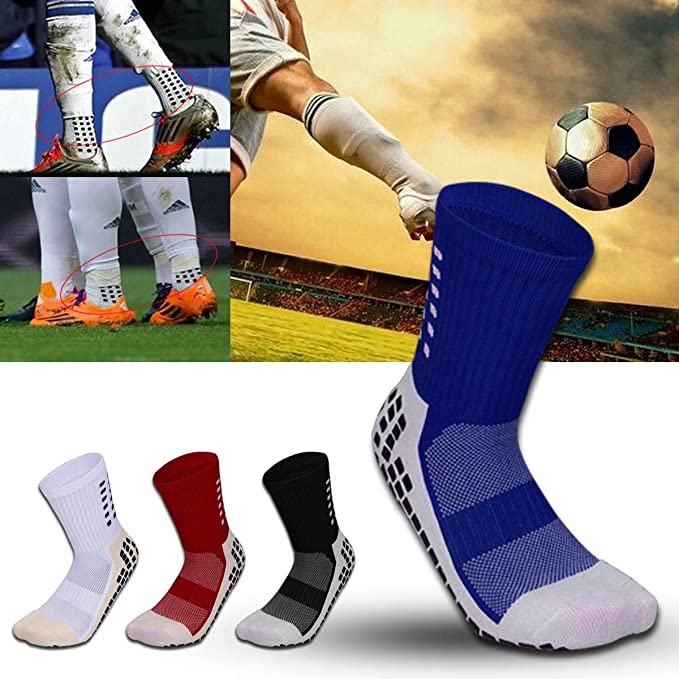 a3d2a7c435d4 MultiWare Trusox Tocksox Style Anti Slip Cotton Football Socks Men  Calcetines Sport Sock Blue  Amazon.co.uk  Sports   Outdoors