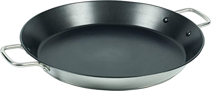 Image ofCallaway Paellera de INOX Antiadherente, 34 cm, Acero Inoxidable, Plateado/Negro