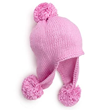 94ff143e407 Amazon.com   BeanieDesigns Organic Cotton Handmade Baby Infant Pompom  Earflap Beanie Hat Toddler Boys Girls Kid Beanie cap   Baby