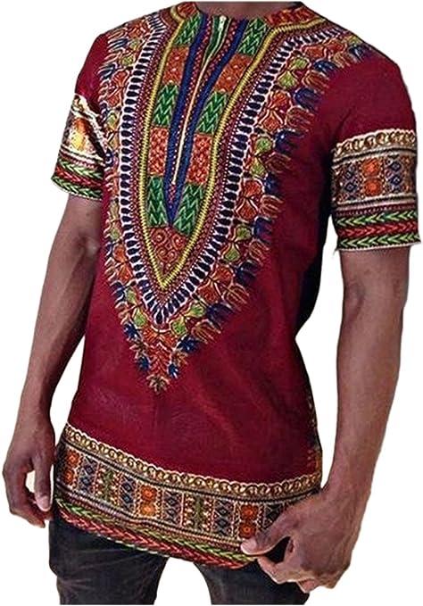 Camiseta De Hombre Tribal Africana Dashiki Floral Hipster Hip Hop Tops: Amazon.es: Ropa y accesorios